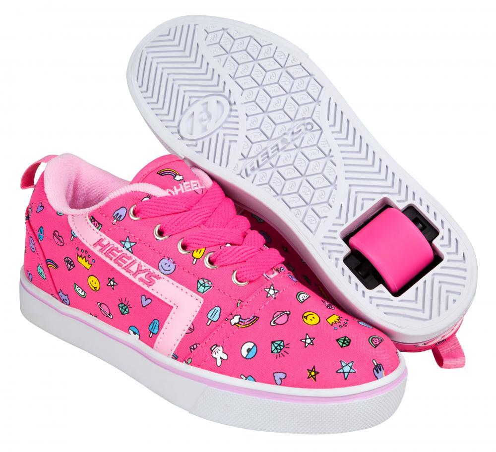 Heelys GR8 Pro Hot Pink//Light Pink//Glitter